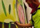 Un gigantesco murales della fabrianese Stella Bosini
